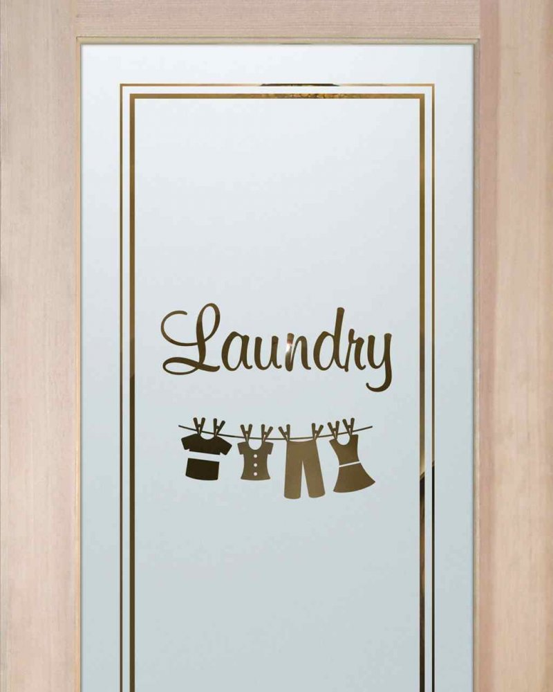 Laundry Room Doors Frosted Glass Clothesline by Sans Soucie