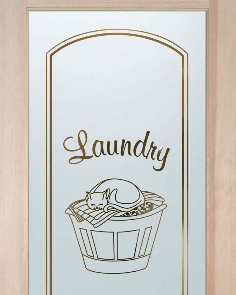 Laundry Room Doors with Frosted Glass cat by Sans Soucie