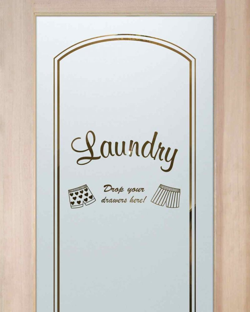 Laundry Room Doors with Etched Glass drop your drawers by Sans Soucie
