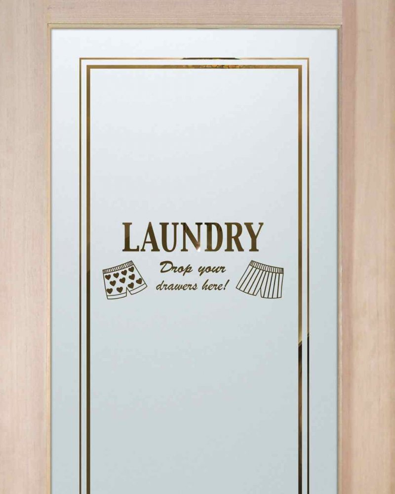 Laundry Room Doors with Etched Glass by Sans Soucie