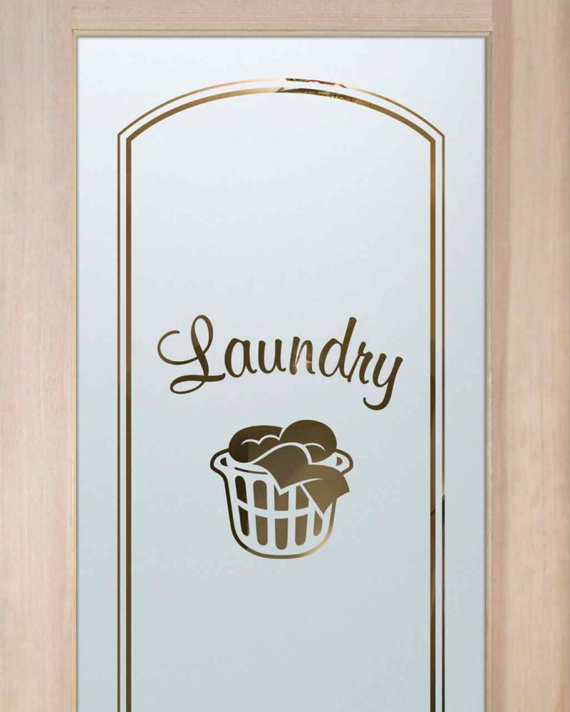 Laundry Room Doors with Solid Frosted Glass basket by Sans Soucie