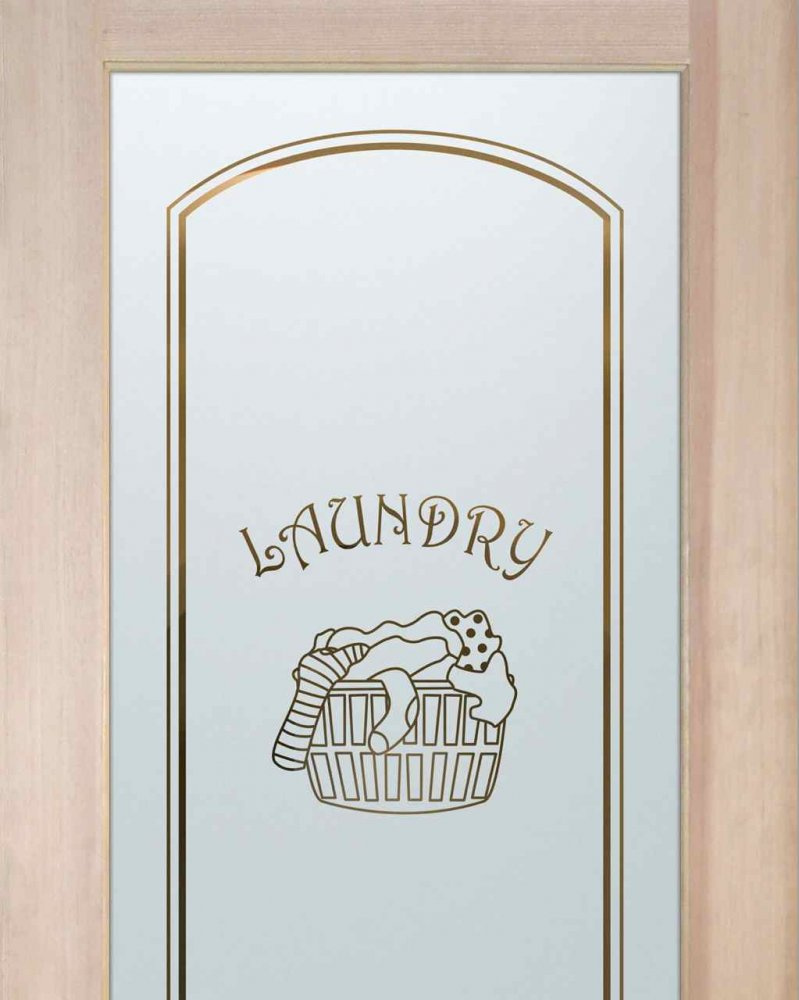 Laundry Room Doors with Glass Etching Laundry Basket by Sans Soucie