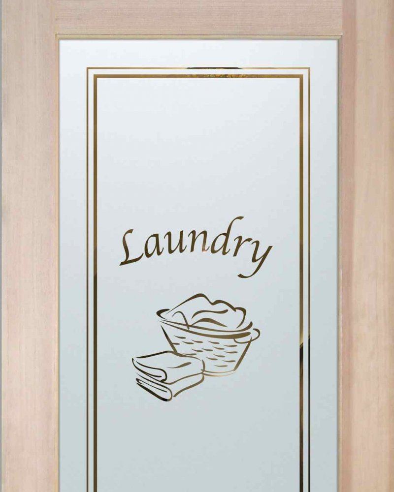 Laundry Room Doors with Frosted Glass Basket by Sans Soucie