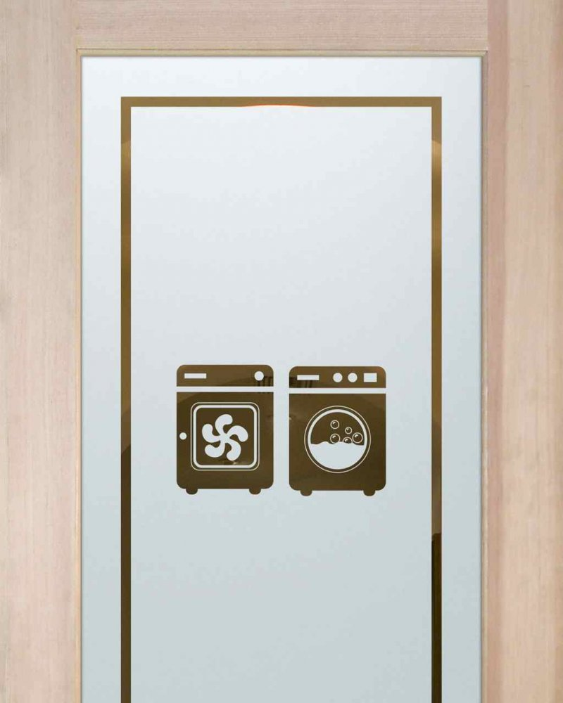Laundry Room Doors with Solid Frosted Washer Dryer by Sans Soucie