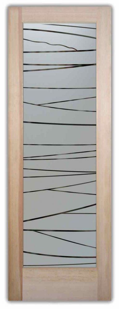Linear Pantry Door Frosted Glass By Sans Soucie Art Glass