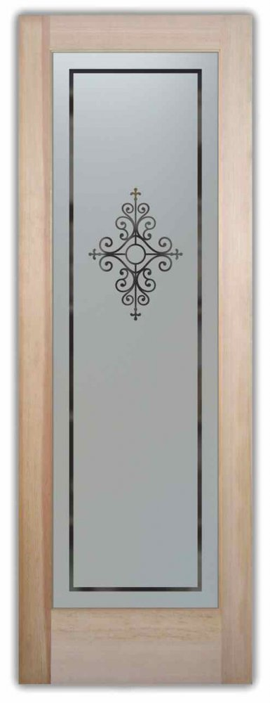 Pantry Doors with Solid Frosted Glass by Sans Soucie