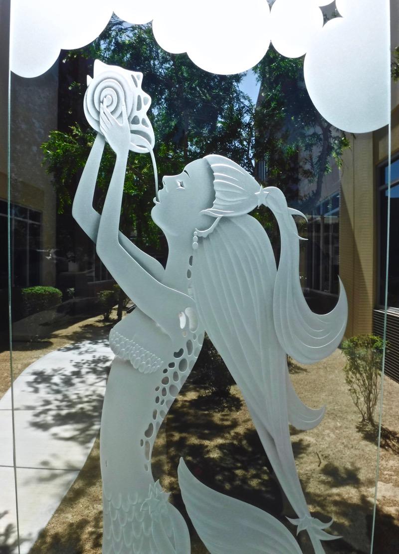 Mermaid 3d Glass Door Inserts Sans Soucie
