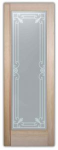 interior glass doors etched glass Mediterranean style iron bars ornate miranda sans soucie