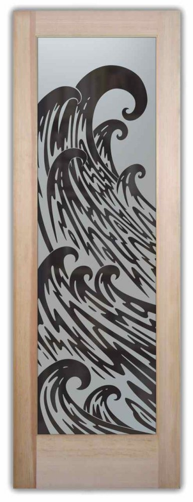 Newport Waves Etched Pantry Door Sans Soucie