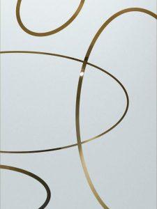 etched glass custom glass decorative glass elliptical patterns circular modern design sans soucie ovals overlap