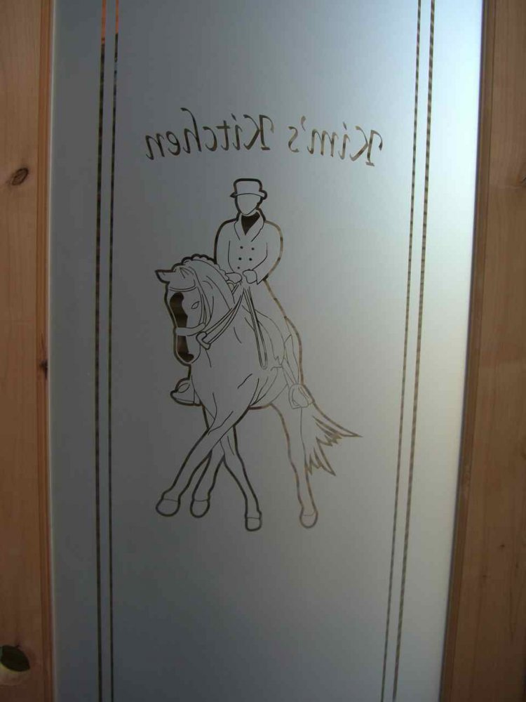 Pantry Doors with Frosted Glass horse by Sans Soucie