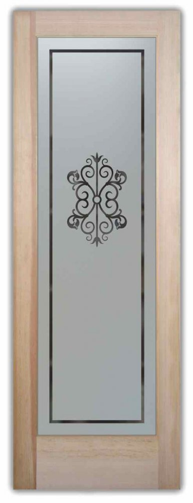 Pantry Doors with Glass Etching by Sans Soucie