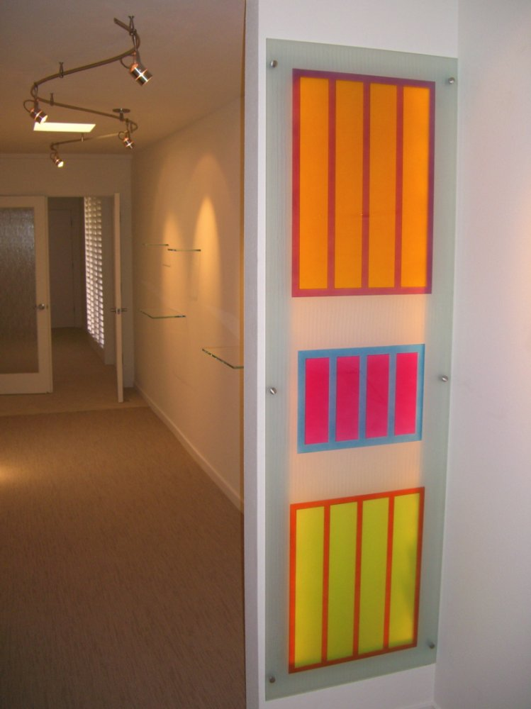 Freestanding Wall Panels with Carved and Painted Colors by Sans Soucie