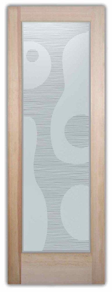 Interior Glass Door glass etching modern design lava flow shapes pegasus sans soucie