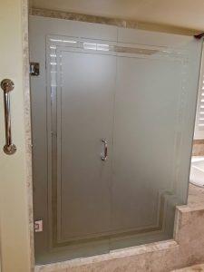 Shower Enclosure Borders 3D Carved Glass Sans Soucie