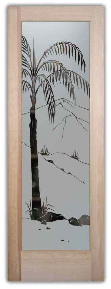 Queen Palm Pantry Door Sans Soucie