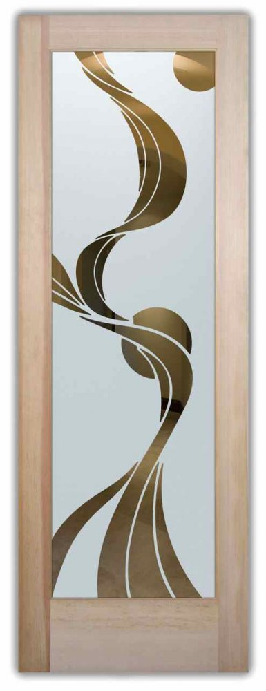 glass front doors custom glass art deco style flowing frosted glass beautiful ribbon reflection sans soucie
