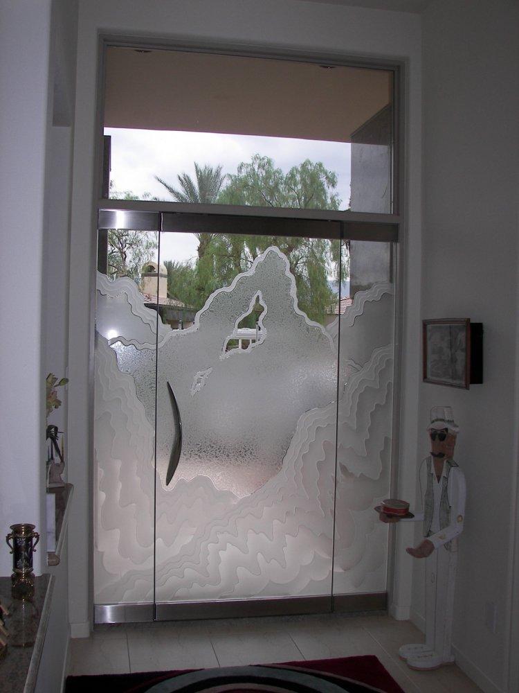 Rugged Frameless Glass Doors L Sans Soucie