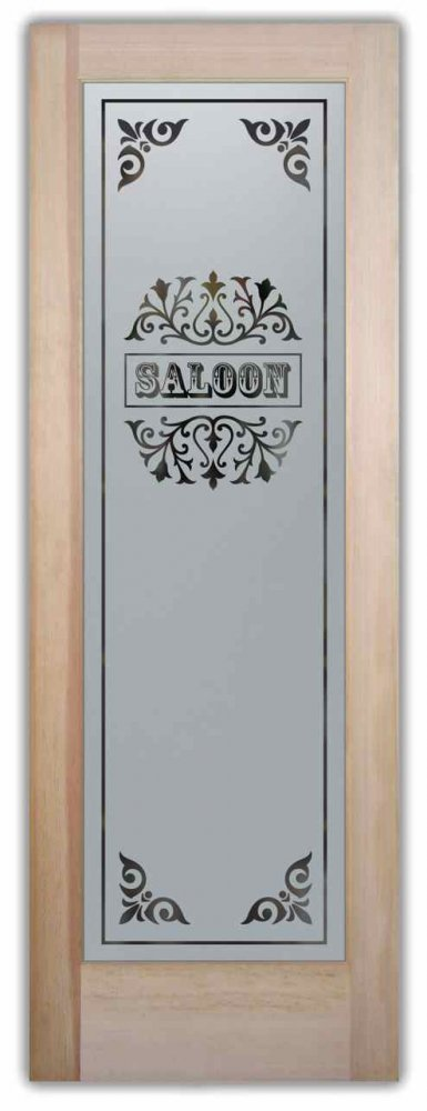 Saloon Etched Pantry Door Sans Soucie