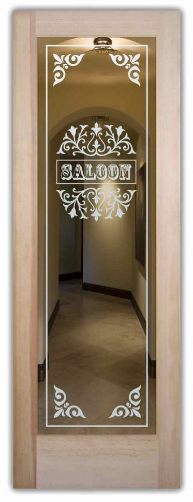 Saloon Ii Interior Doors With Glass Etching Western Style