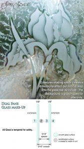 Sans Soucie Sandblast Etched Glass Sample 2D Gluechip
