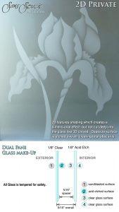 Sans Soucie Sandblast Etched Glass Sample 2D Private