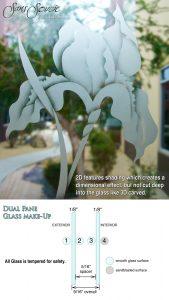 Sans Soucie Sandblast Etched Glass 2D Etched