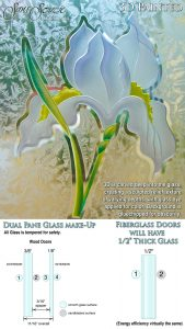 Sans Soucie Sandblast Etched Glass Sample 3D Painted Gluechip