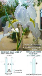 Sans Soucie Sandblast Etched Glass Sample 3D Painted