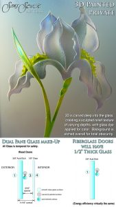 Sans Soucie Sandblast Etched Glass Sample 3D Private Painted