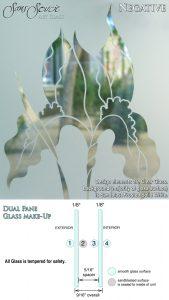 Sans Soucie Sandblast Etched Glass Sample Negative