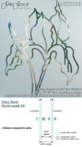 ans Soucie Sandblast Etched Glass Sample Pinstripe