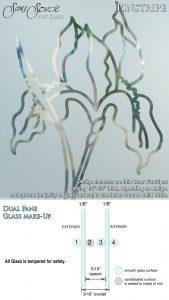 Sans Soucie Sandblast Etched Glass Sample Pinstripe