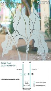 Sans Soucie Sandblast Etched Glass Sample Positive