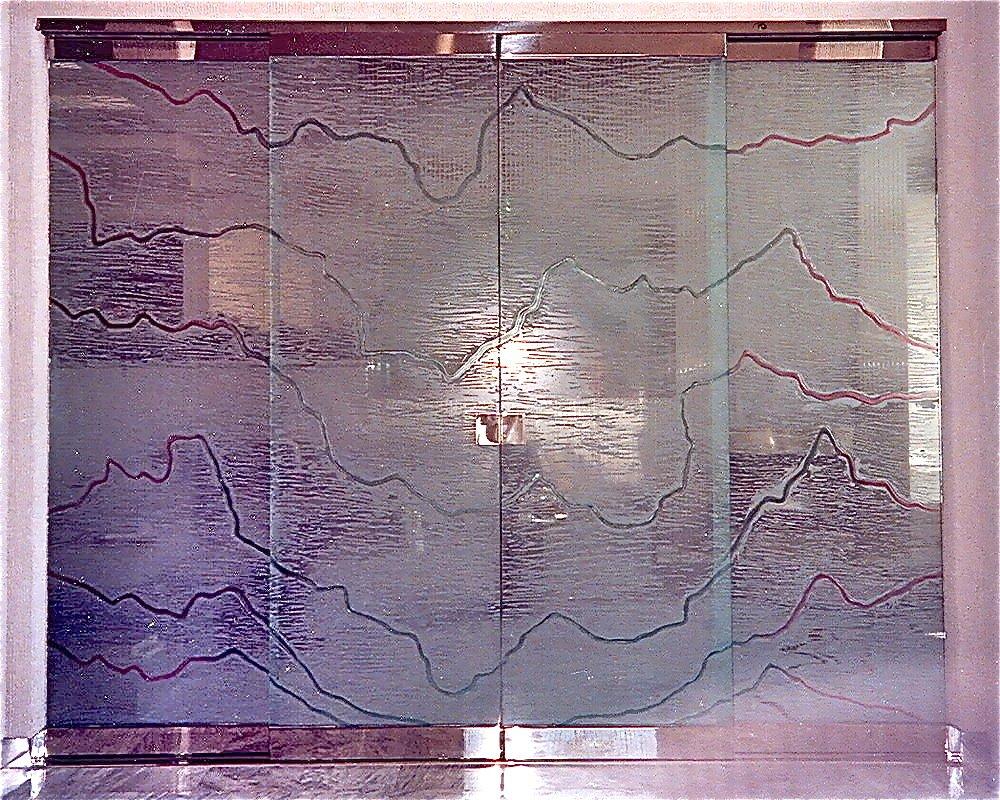 Serrated Frameless Glass Doors Sans Soucie