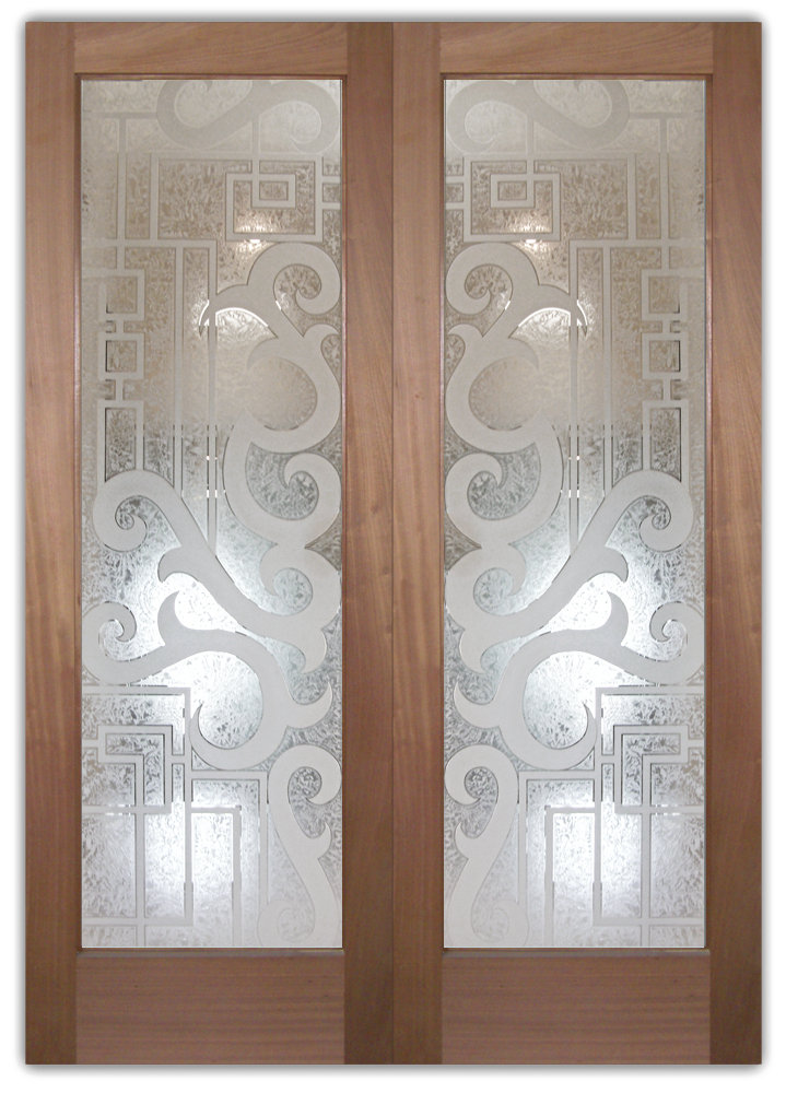 Seville i 3d etched glass doors art decor style glass front doors etched glass art deco style eclectic decor planetlyrics Gallery