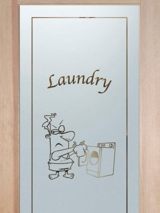 interior glass door custom glass washing clothes comic glass laundry decor sans soucie shrunken shirt