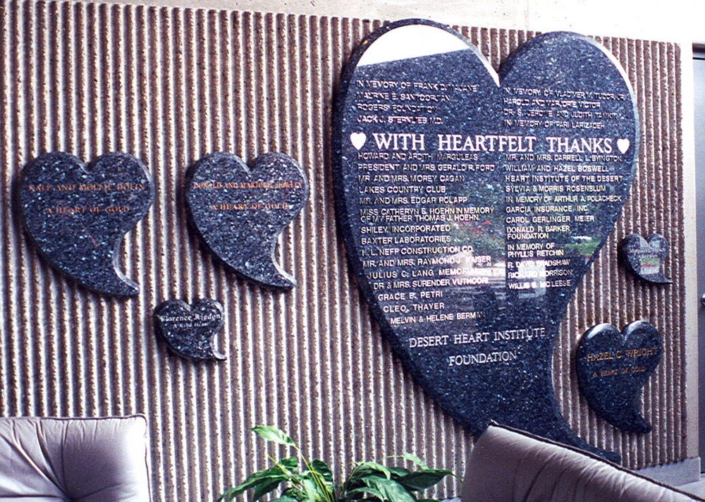 Heart Institute S With Heartfelt Thanks Sign Sans Soucie
