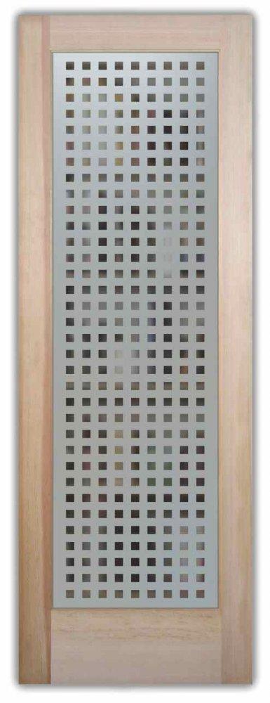 Square Patterns Etched Pantry Door Sans Soucie