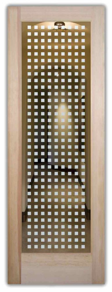 interior doors with glass etching etched glass designs contemporary style cubes patterns squares sans soucie