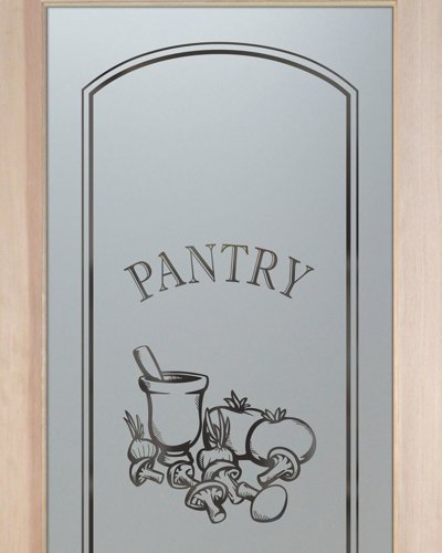 Pantry Doors with Frosted Glass by Sans Soucie