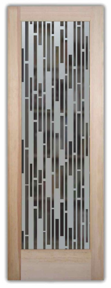 Strips Vertical Pantry Door Custom Glass By Sans Soucie