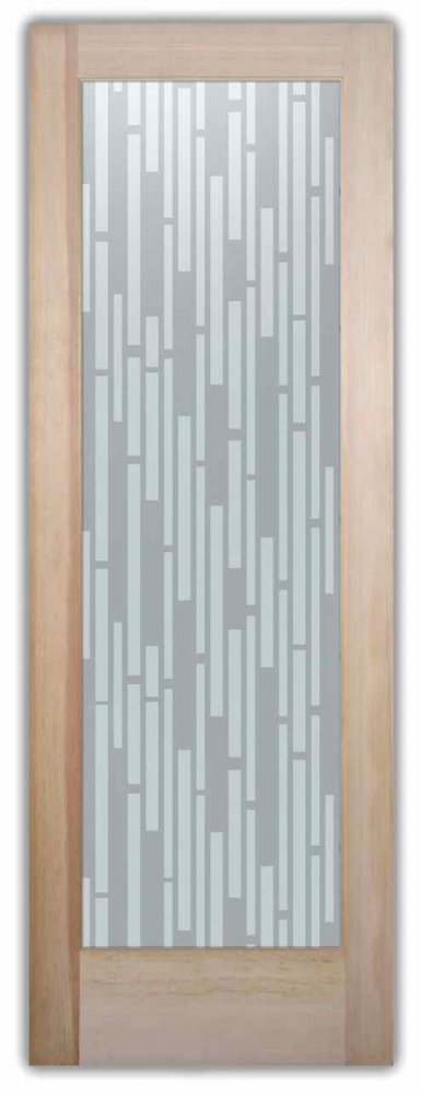 interior glass doors custom glass modern style geometric patterns strips vertical sans soucie