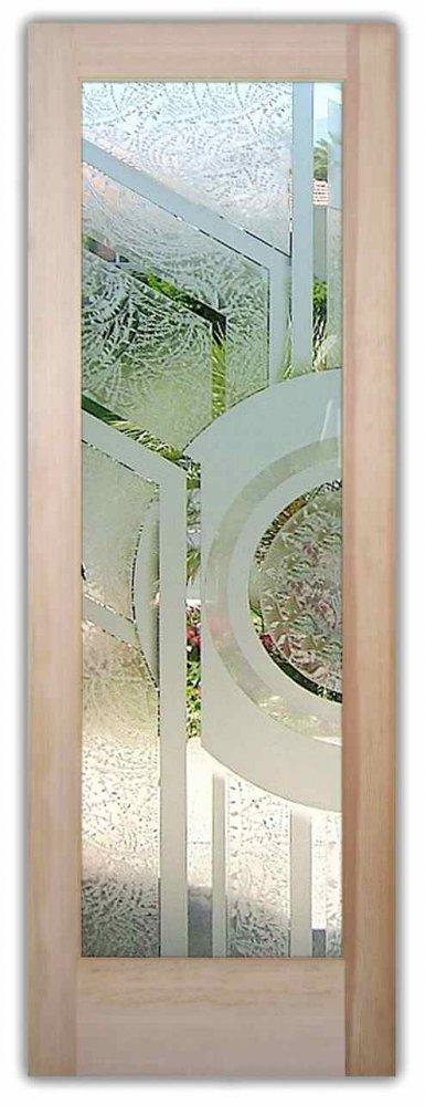 Glass Front Doors Etched Glass Geometric Sans Soucie