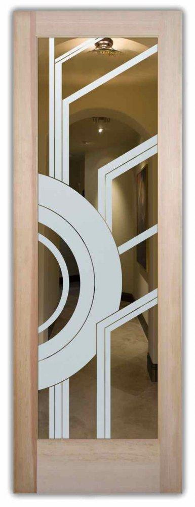 interior doors with glass etching custom glass modern design linear circles patterns sun odyssey sans soucie