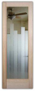 Interior Glass Doors Etched Glass Modern Design Geometric Contemporary Art Deco Style