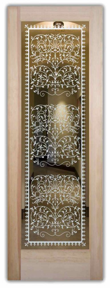 Vctrn lace interior doors with glass etching victorian style interior doors with glass etching frosted glass victorian style lacy ornate patterns victorian lace sans soucie planetlyrics Image collections