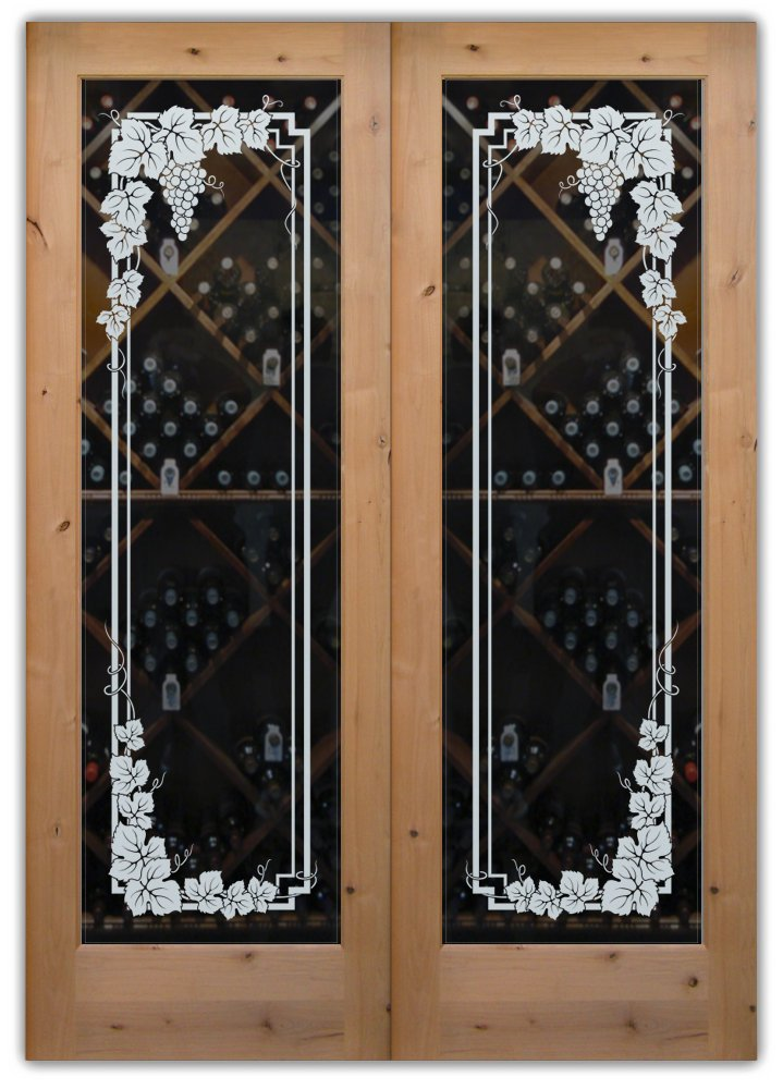 Vineyard Grapes Garland Pair Wine Cellar Doors Sans Soucie