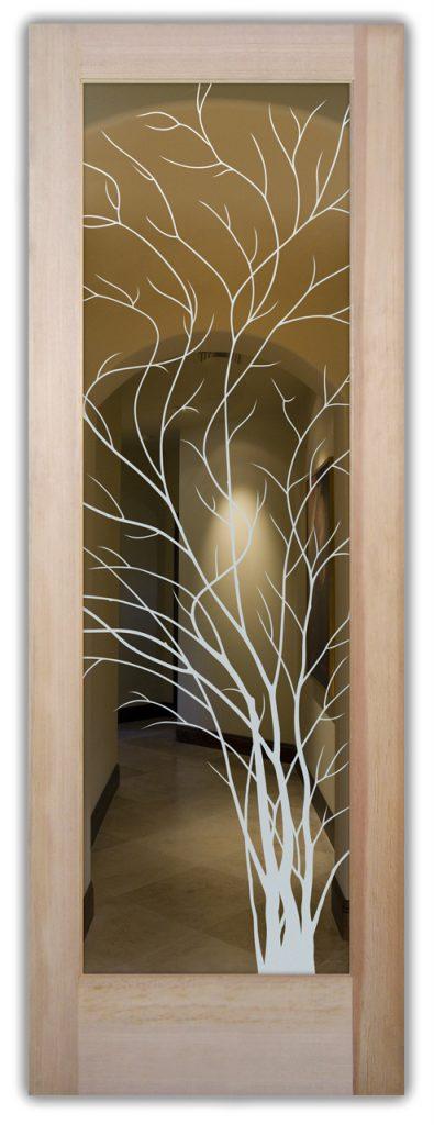 Interior Door Glass Frosting Trees Sans Soucie
