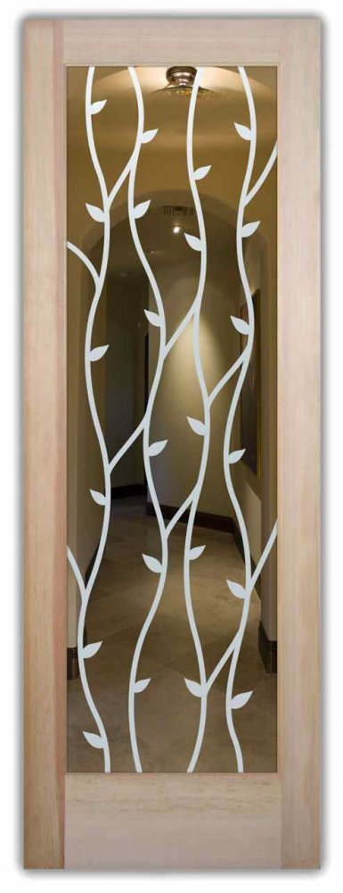 Interior Doors With Gl Etching Tuscan Style Leafy Nature Wrought Iron Vines Sans Soucie